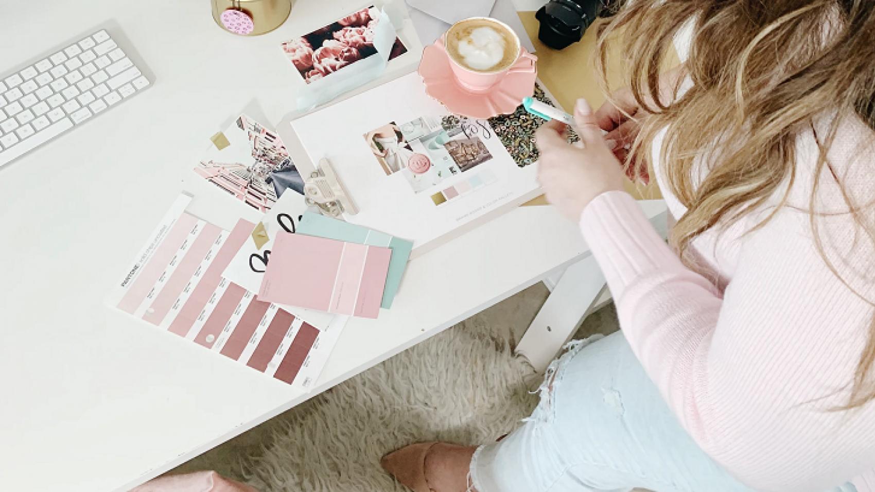 Branding Woman Choosing Brand Colours
